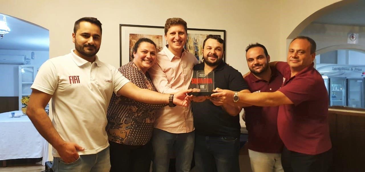 Carboni Fiat de Videira recebe prêmio Squadra Fiat WhatsApp Image 2019 10 31 at 19.57.031