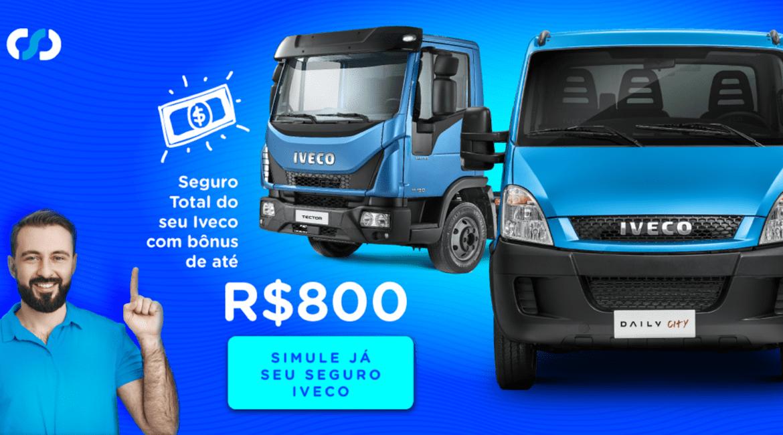 Carboni oferece bônus no Seguro Total para quem comprar Iveco ANUNCIO FACEADS 1200X628PX CAMPANHA SEGURO DAILY TECTOR CARBONI CORRETORA2