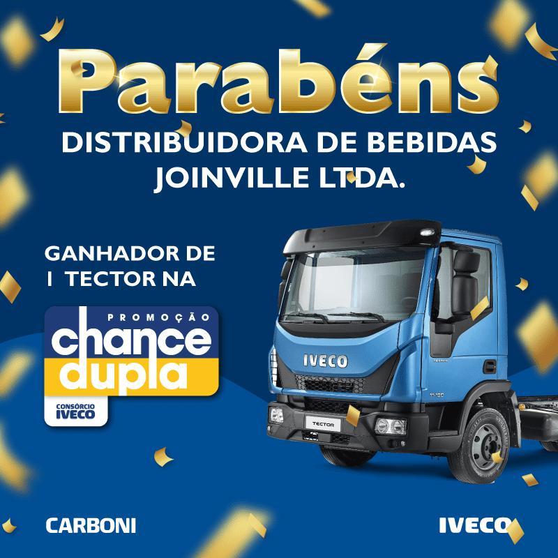 Cliente da Carboni Iveco de Joinville é ganhador da promoção Chance Dupla POST GANHADORCONS%C3%93RCIO