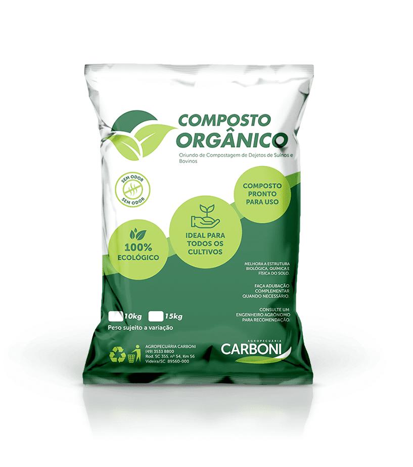Novo Composto Orgânico 100% ecológico da Agropecuária Carboni mockup adubo2
