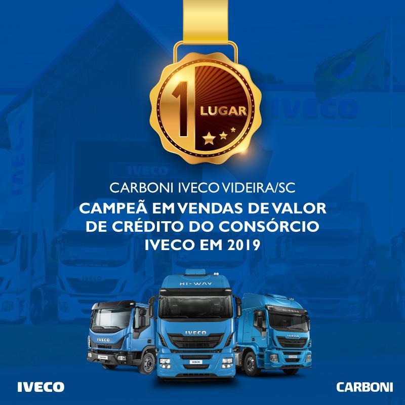 Carboni Videira é Campeã de Vendas do Consórcio Iveco em 2019 post campeaodevendas consorcio