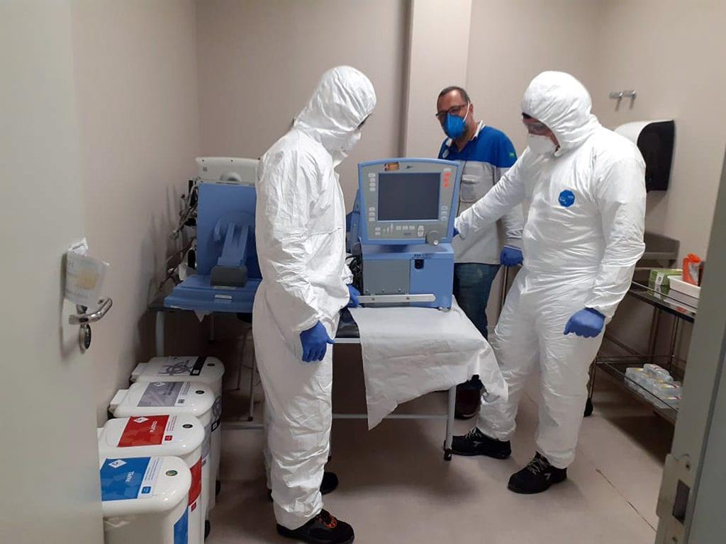 FCA mobiliza expertise e estrutura industrial em amplo programa de suporte no combate à Covid-19 no Brasil Kit covid Ellen 31 03 2020 2