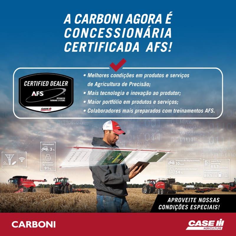 Carboni Case é concessionária certificada AFS POST AFS CERTIFICADO