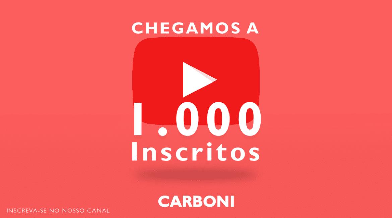 Canal da Carboni Iveco no Youtube atingiu 1.000 inscritos! BANNER RELEASE 1000