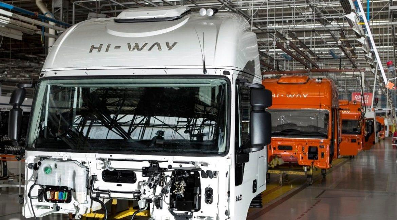 Iveco contrata para ampliar a produção linha de montagem iveco