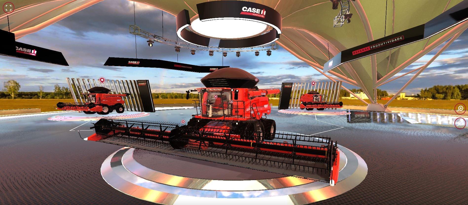 Com 3D imersivo e interativo, showroom da Case IH oferece tour guiado em ambiente virtual com as novas colheitadeiras da marca