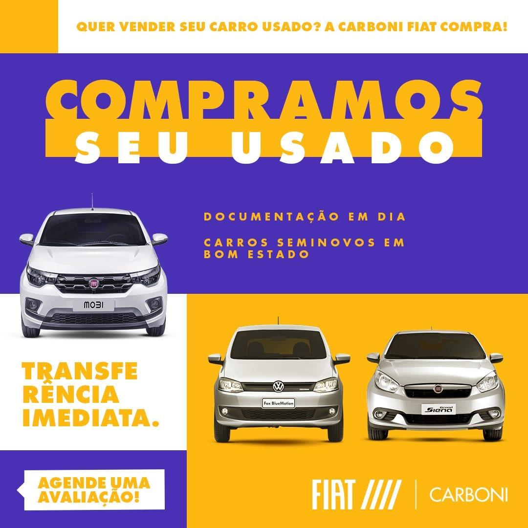 Você quer vender o seu carro usado e está procurando fazer o melhor negócio? Então venha para a Carboni Fiat!