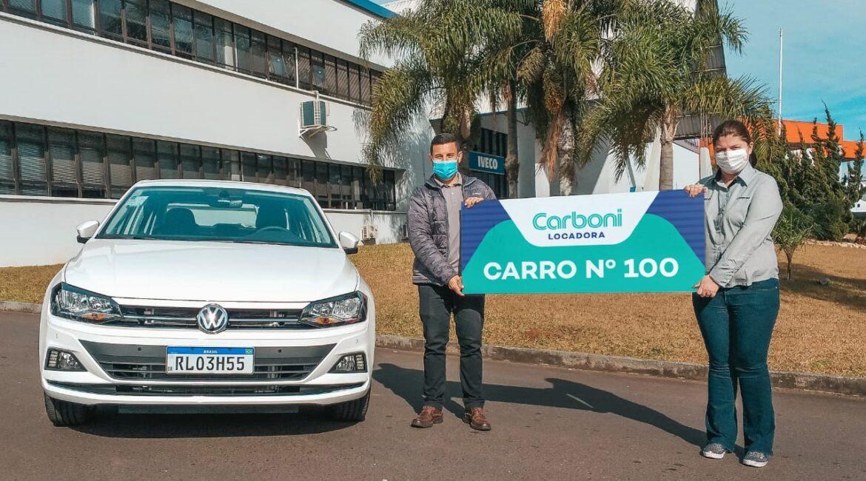 Carboni Locadora entregou 100º carro em menos de dois anos de operação