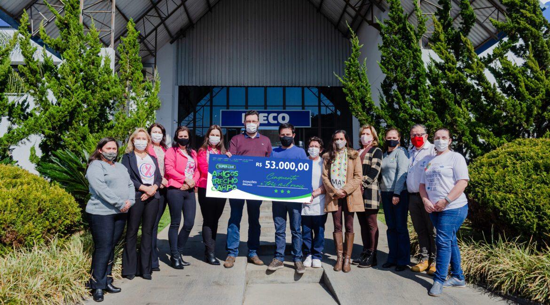 Carboni e Superviza fazem doação de R$ 53 mil a instituições videirenses