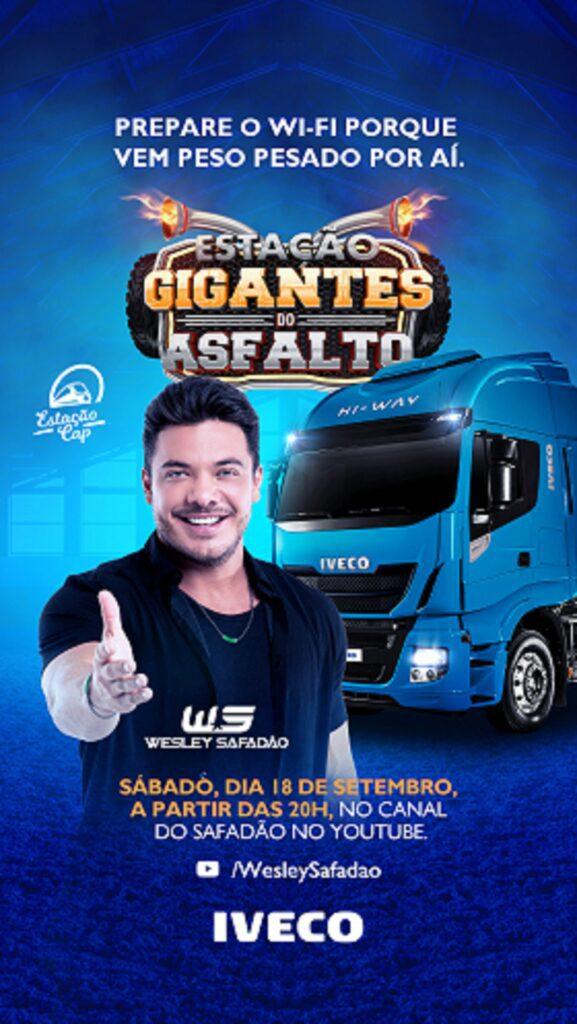 Wesley Safadão é atração de live da IVECO em homenagem ao Dia do Caminhoneiro Live IVECO.jpg 594257