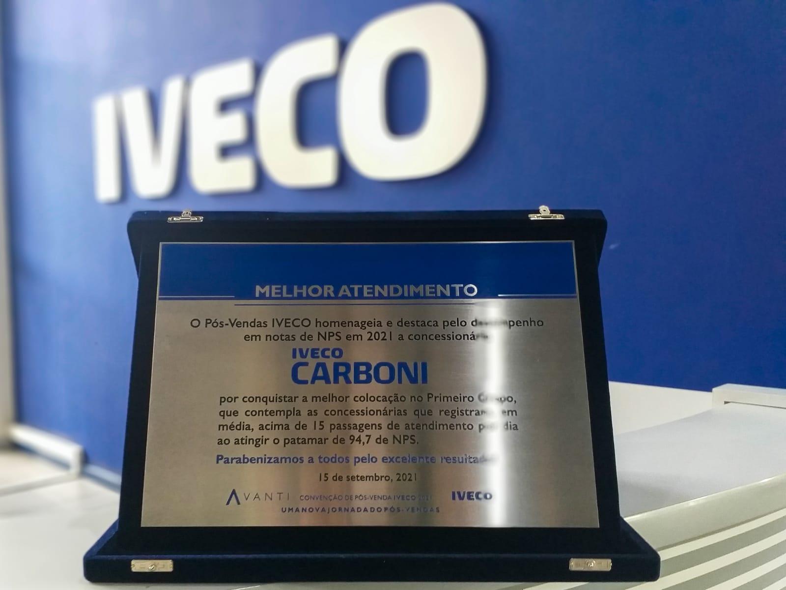 Pós-vendas da Carboni lidera programa NPS da Iveco WhatsApp Image 2021 09 27 at 16.55.38