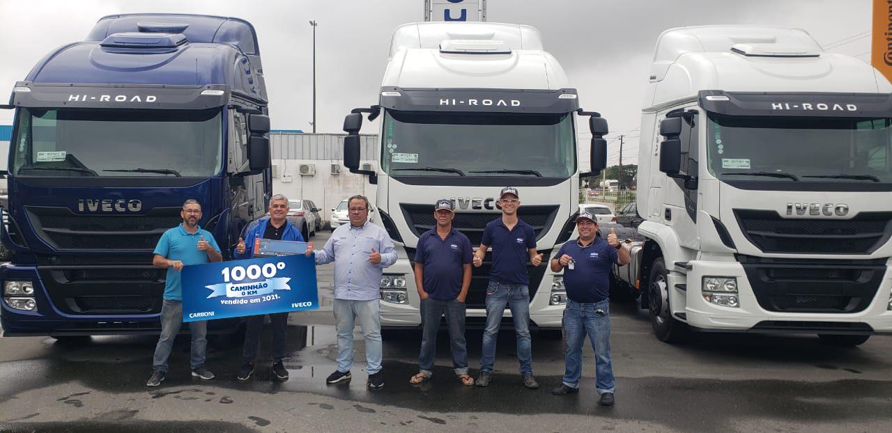 Carboni atinge marca de 1.000 caminhões Iveco vendidos em 2021