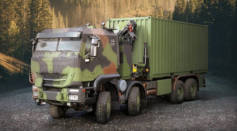 Iveco irá entregar 1.048 caminhões militares Trakker ao Exército da Alemanha iveco dv trakker gtf 8x8 1