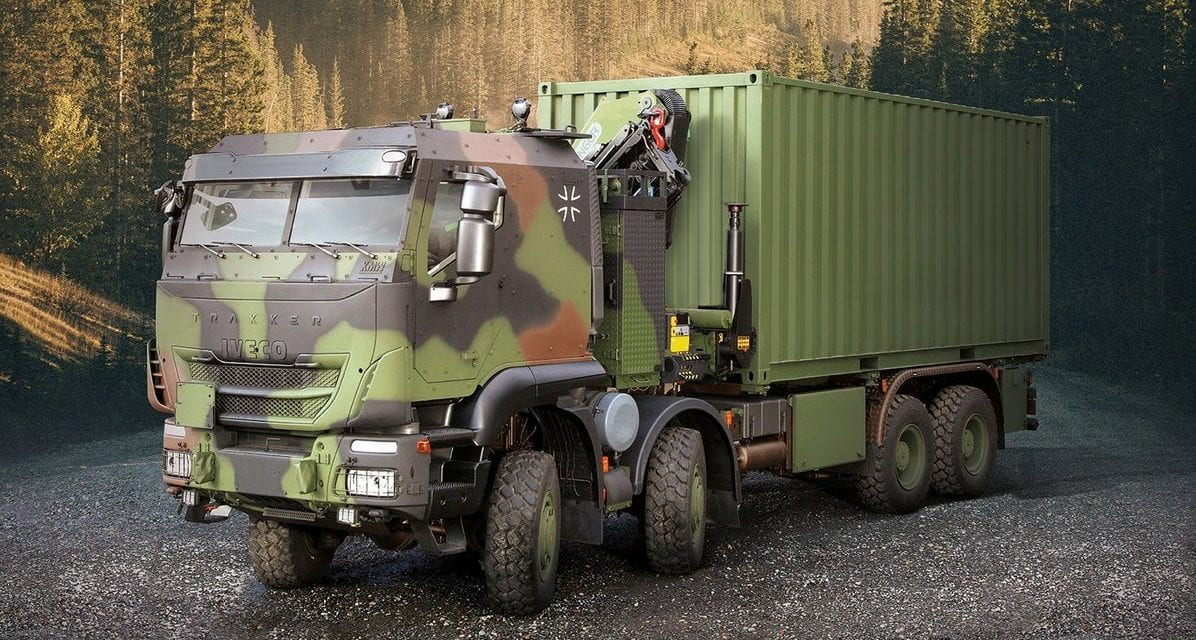 Iveco irá entregar 1.048 caminhões militares Trakker ao Exército da Alemanha