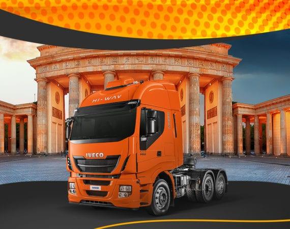 O Consórcio Iveco vai levar você e um acompanhante para a Alemanha
