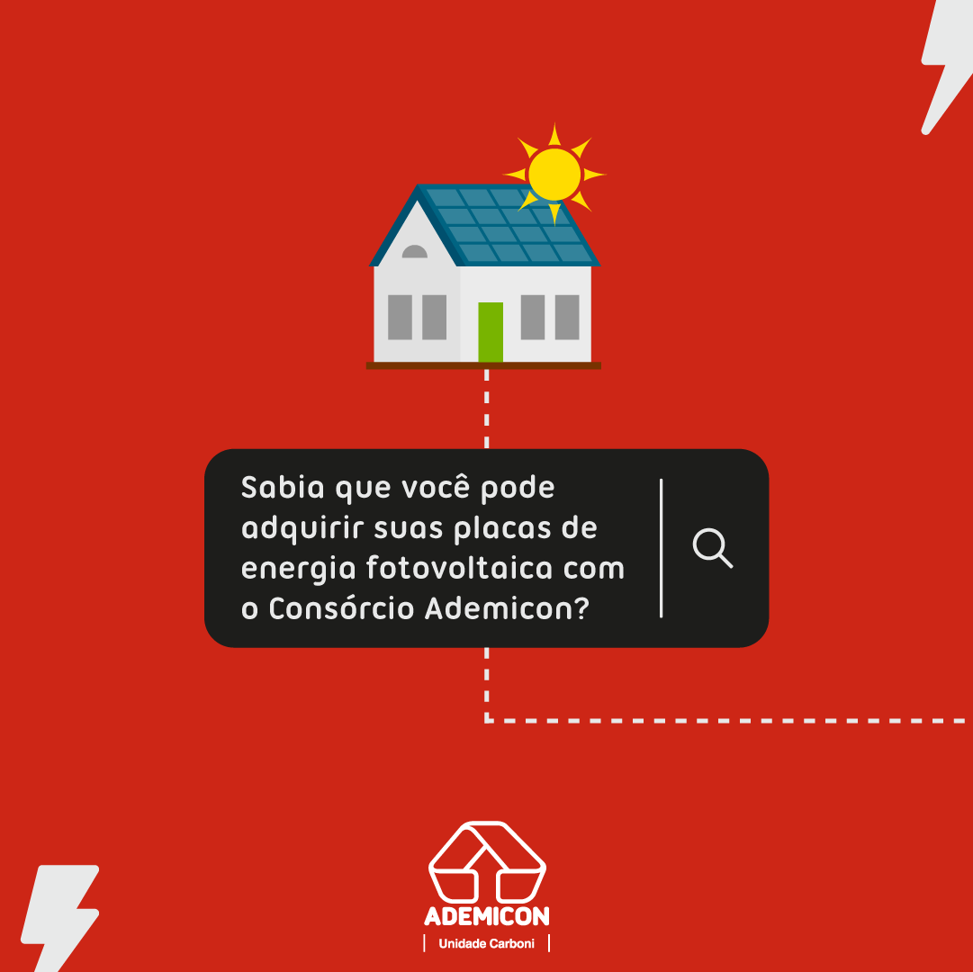 Invista em Energia Solar através do consórcio da Ademicon