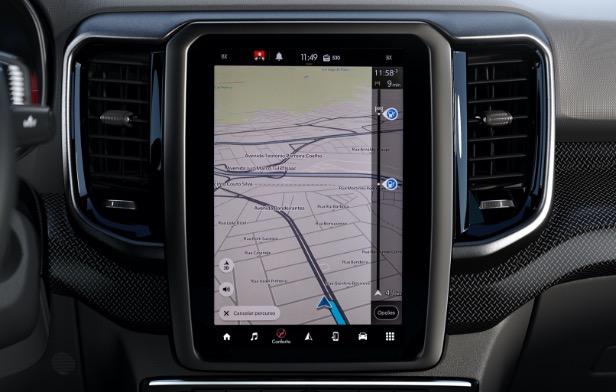 Nova Fiat Toro - Mapa Inteligente
