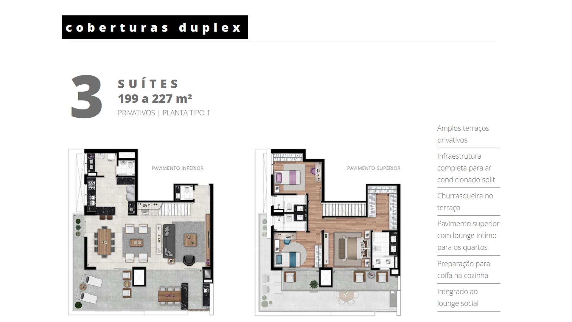 Cobertura Duplex - 3 Suítes