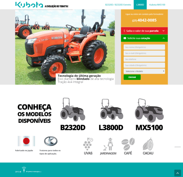 Kubota – Landing Pages e Adwords