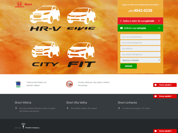 Honda Shori – Landing Pages e Adwords