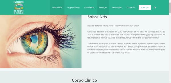 Instituto de Olhos de Vila Velha – Site