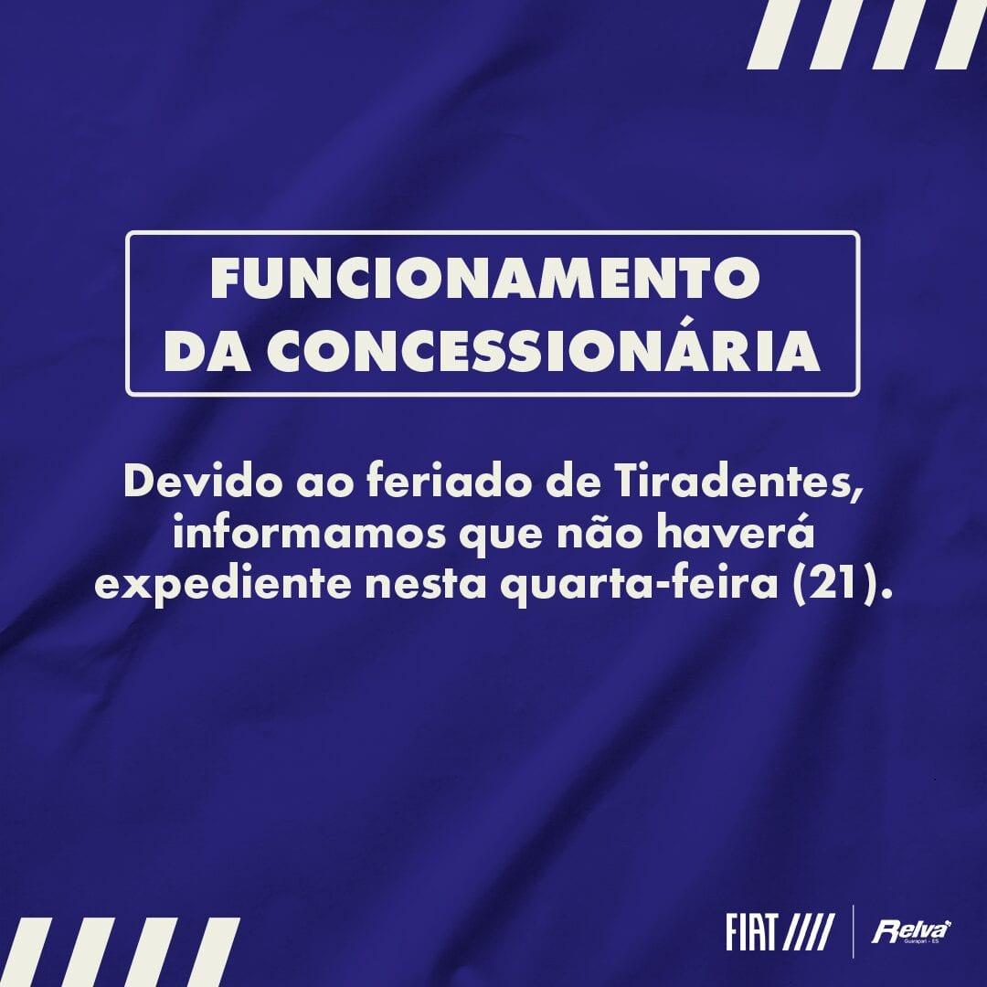 19 RELVA AVISO DE FUNCIONAMENTO Post Facebook v2 2 - Relva Veículos