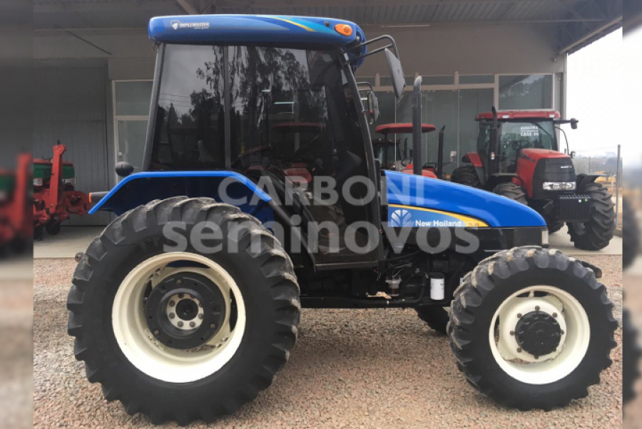 NEW HOLLAND TL 95 CABINADO, TURBINADO, 20X12 2015/2015
