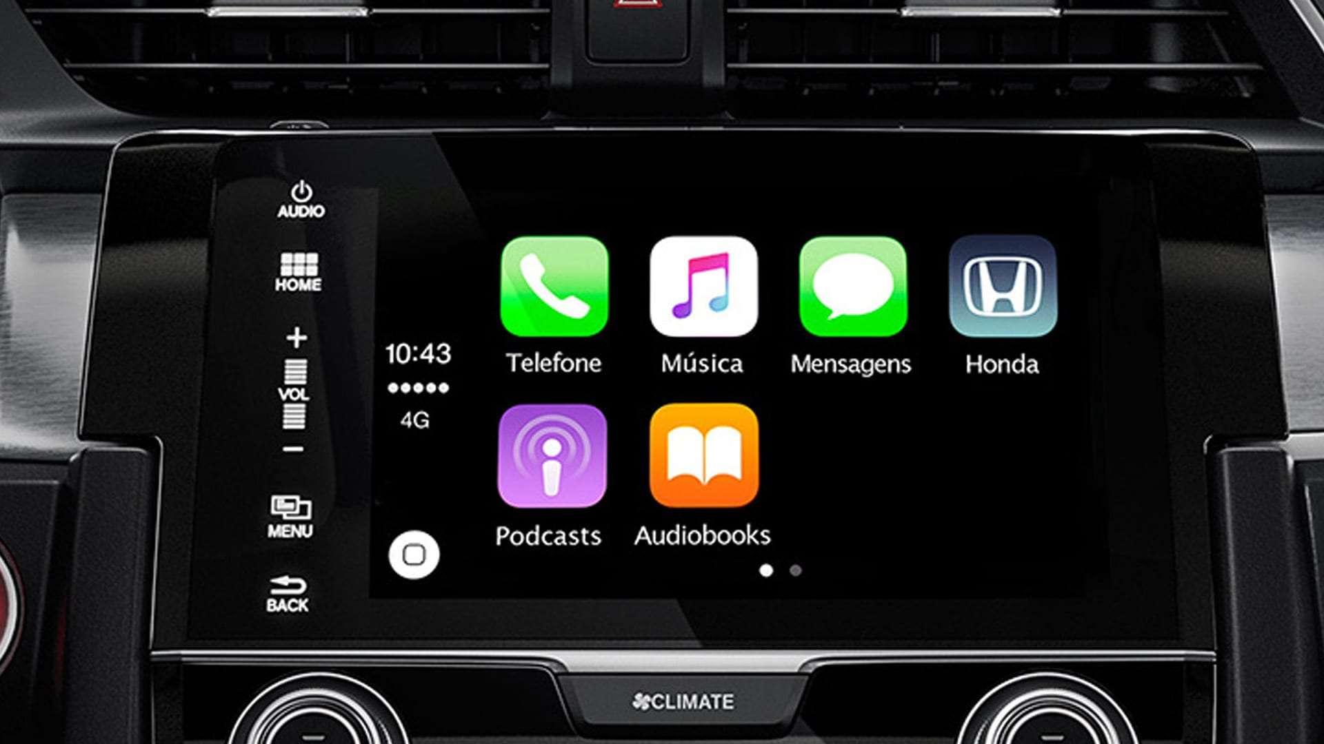 """Civic - Central multimídia de 7"""" multi-touchscreen com navegador GPS"""