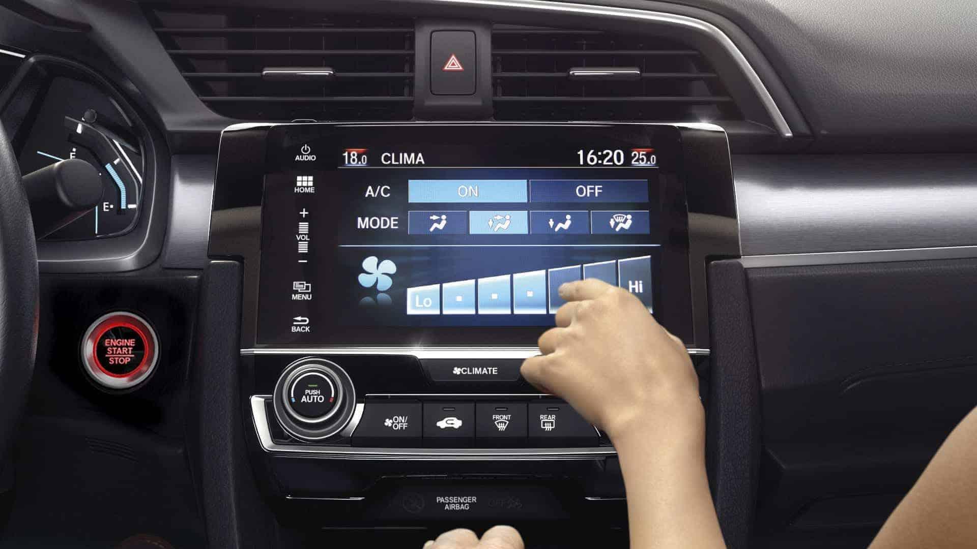 Civic - Ar-condicionado digital automático Dual Zone