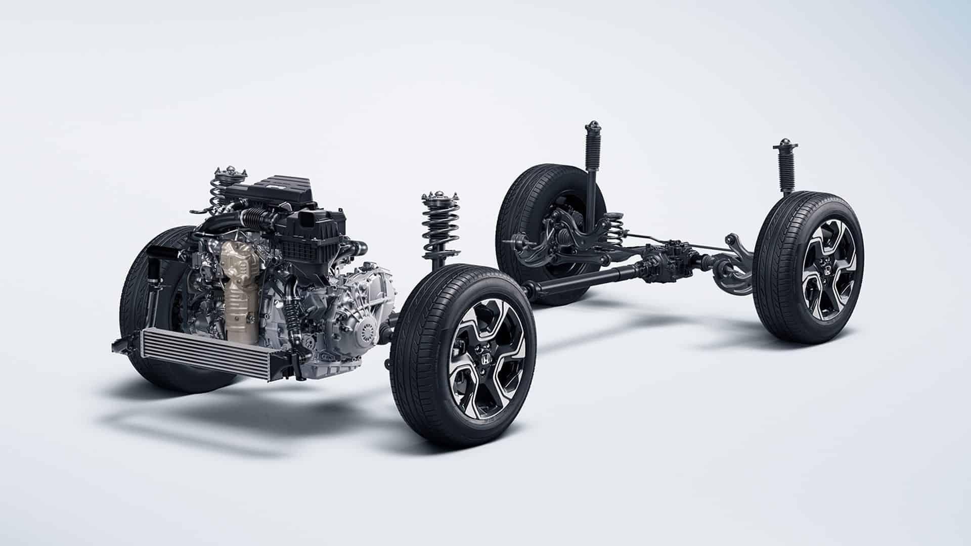 CR-V - Sistema de tração 4WD