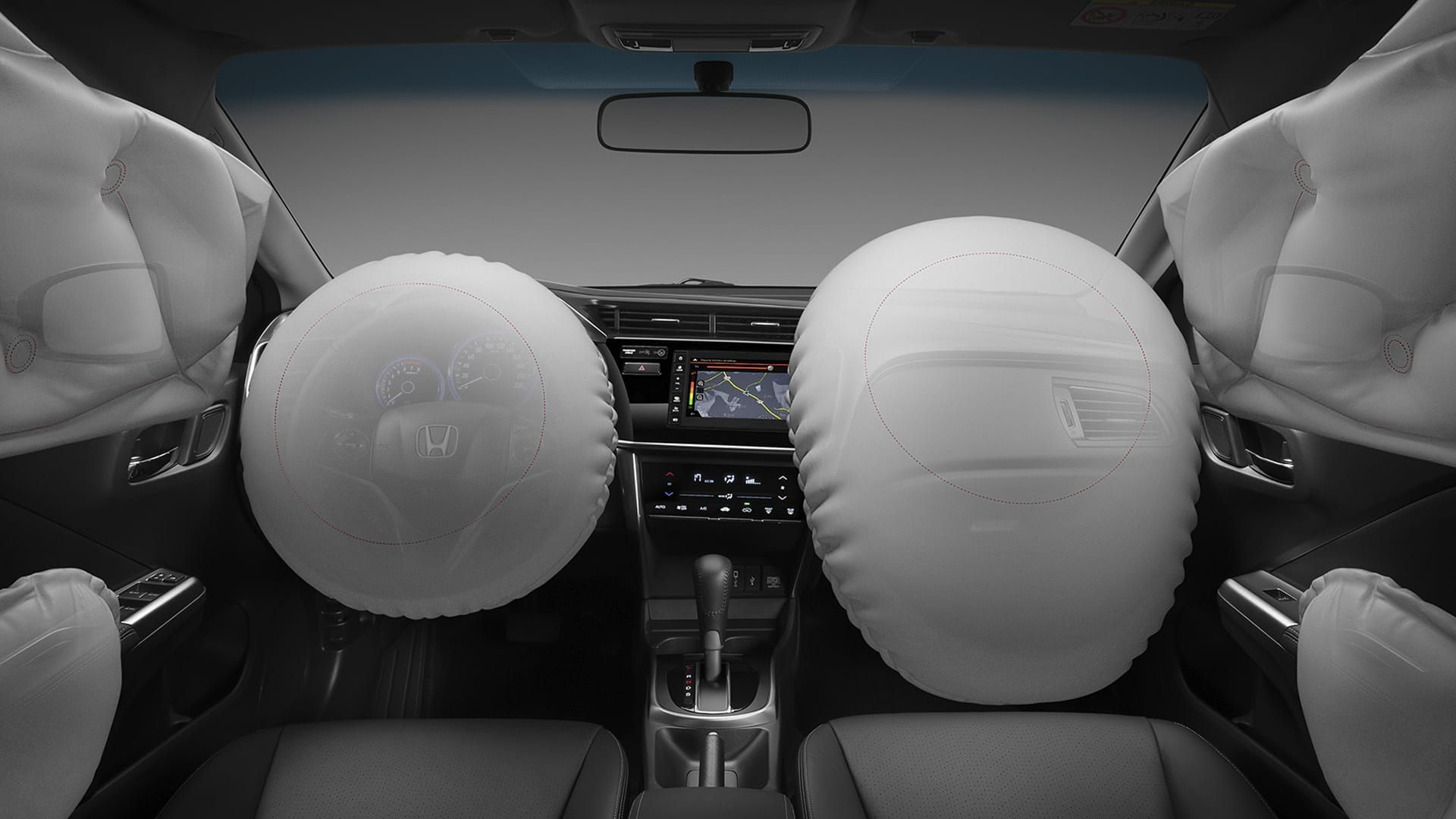 City - 6 Airbags: frontais, laterais e de cortina