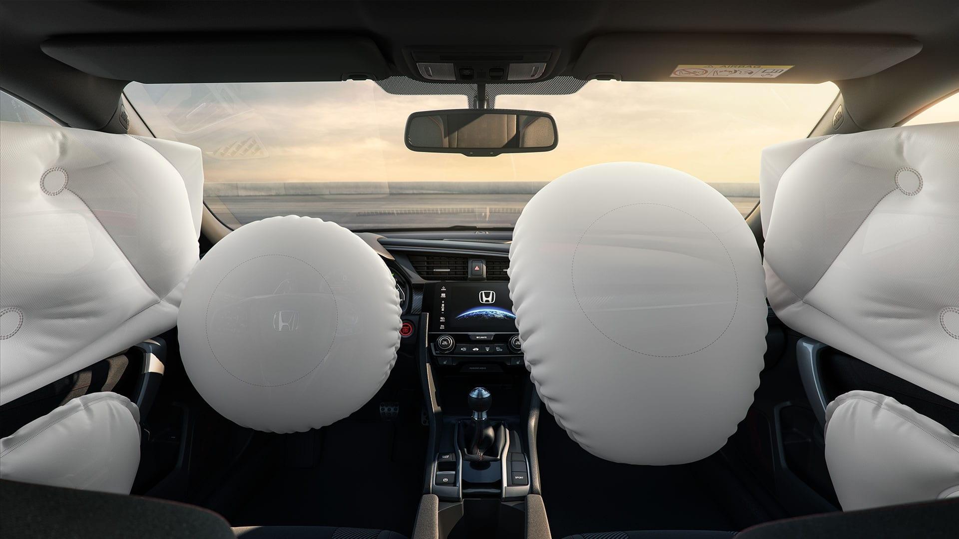Civic SI - 6 airbags (frontais, laterais e de cortina)