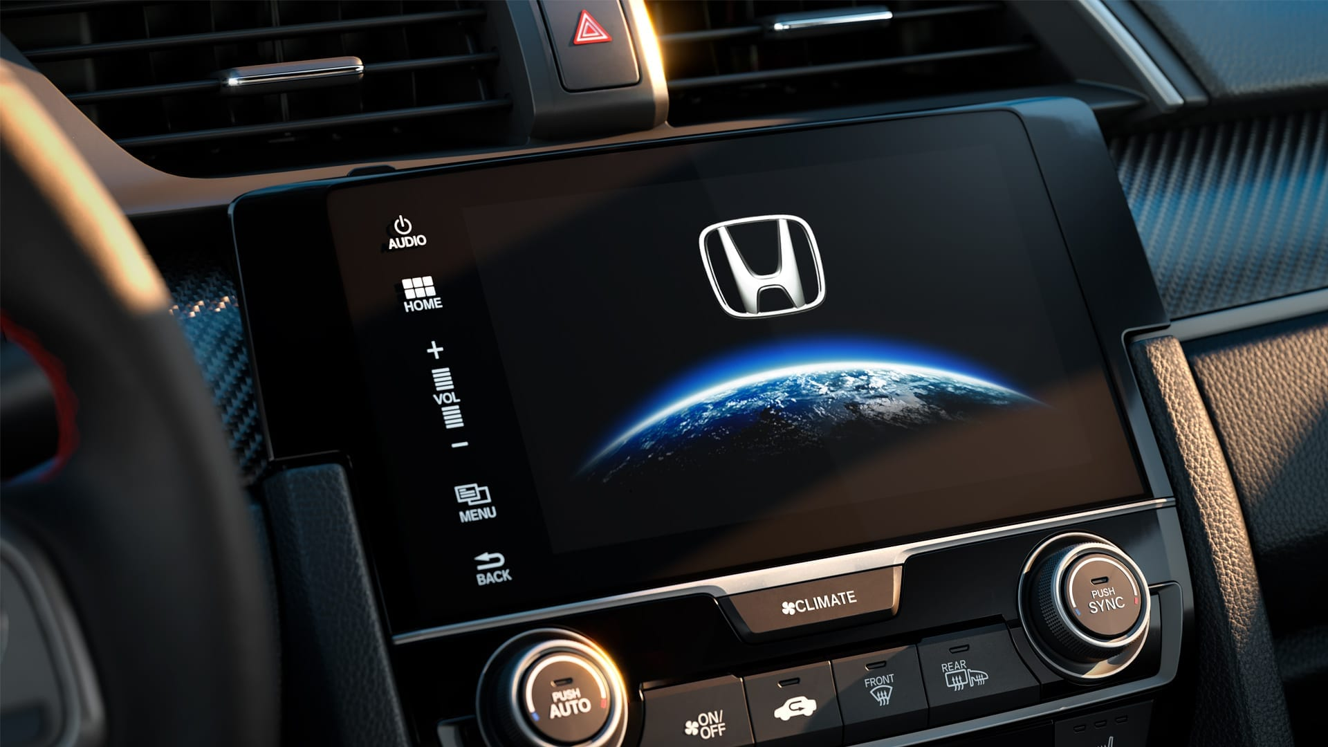 "Civic SI - Multimídia de 7"" multi-touchscreen com GPS integrado e Premium Audio com 10 alto-falantes"