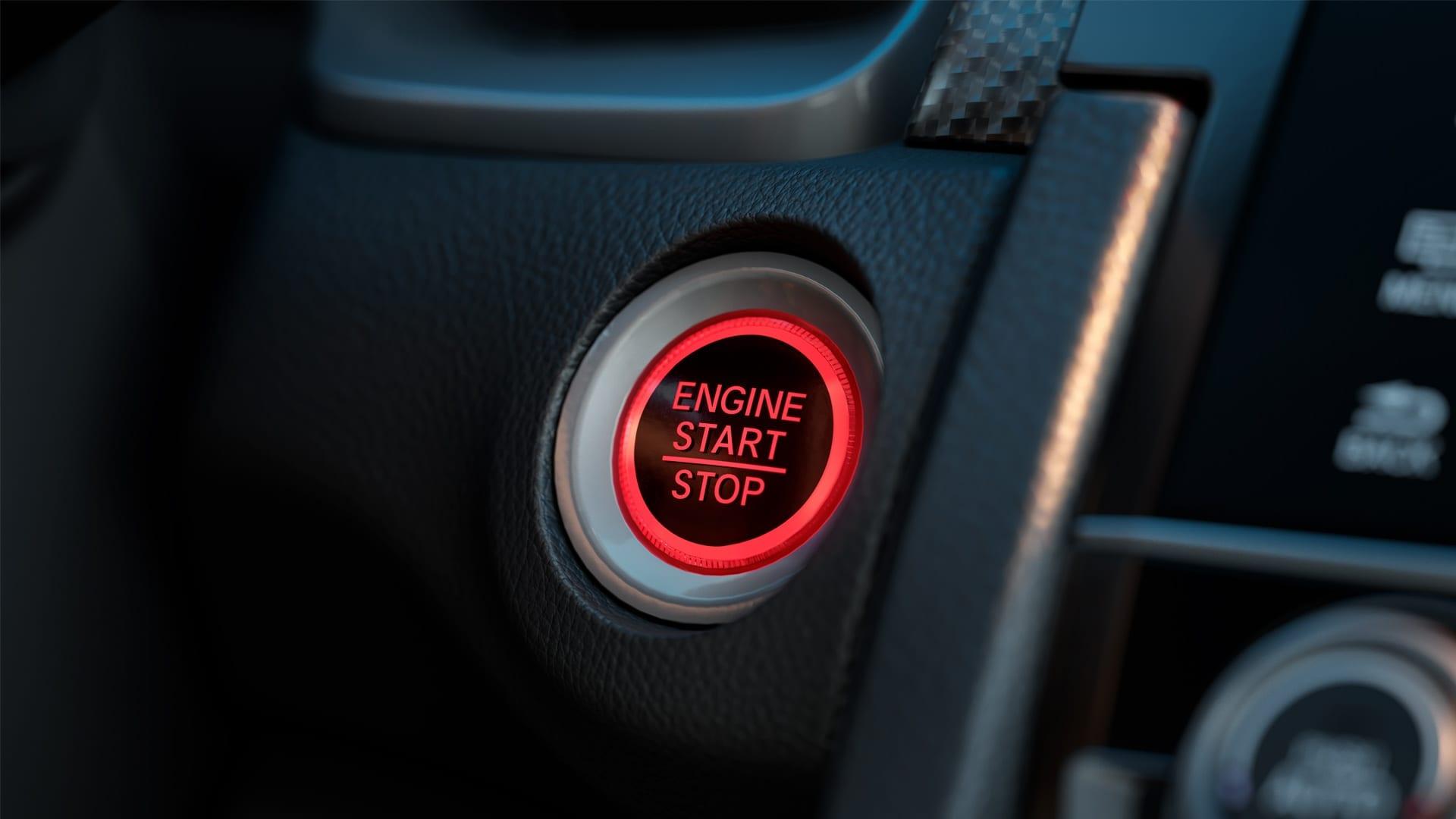 Civic SI - Botão ENGINE START/STOP (partida sem chave)
