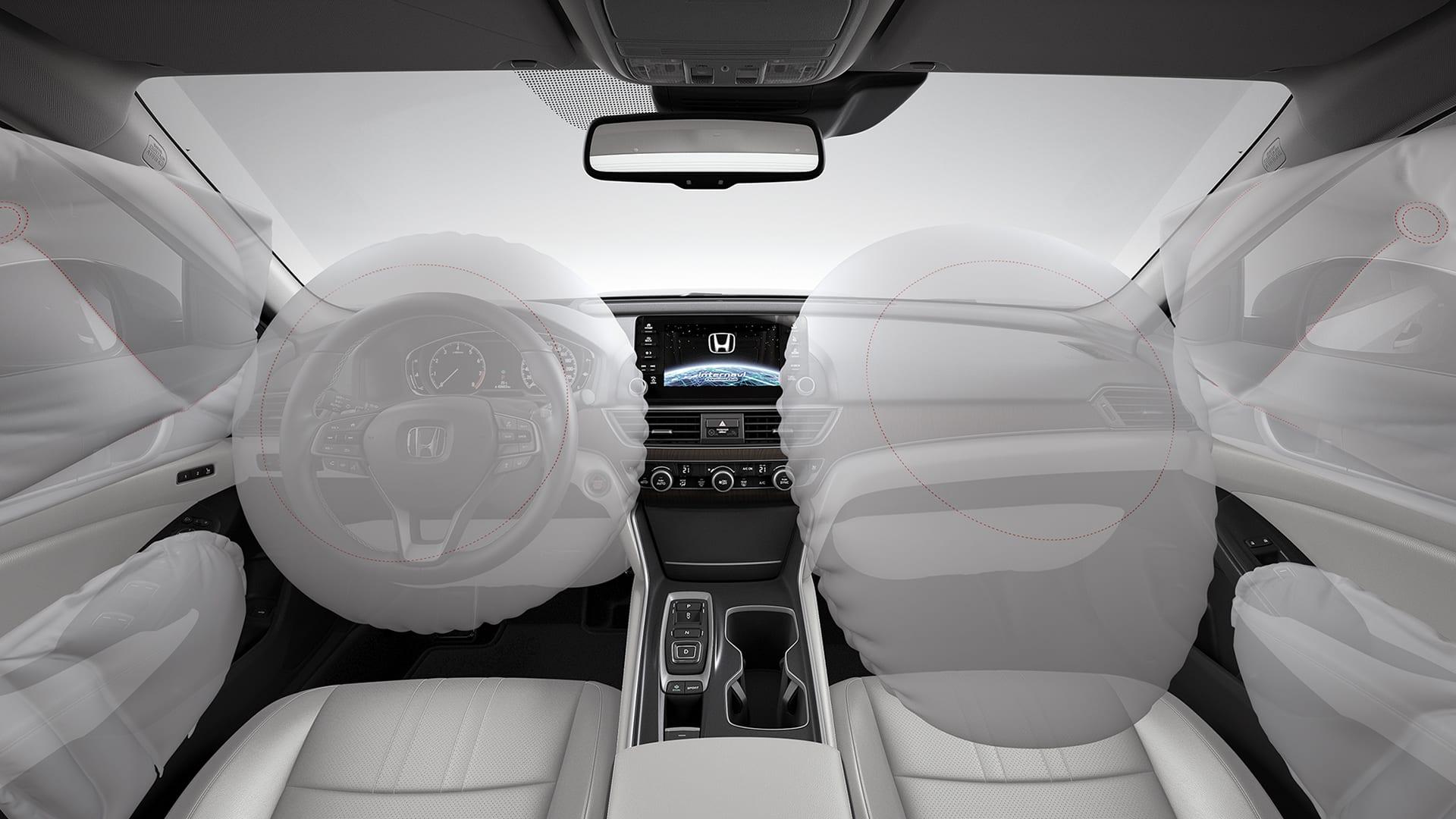 Accord - Sistema de segurança com airbags frontais, laterais, de cortina e para joelhos
