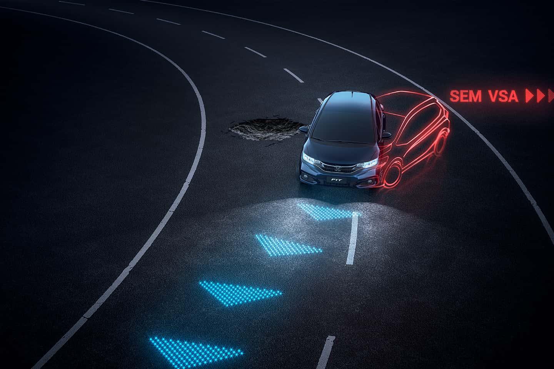 Sistema VSA® (Vehicle Stability Assist) - Assistente de tração e estabilidade - Sistema inteligente de controle de estabilidade.