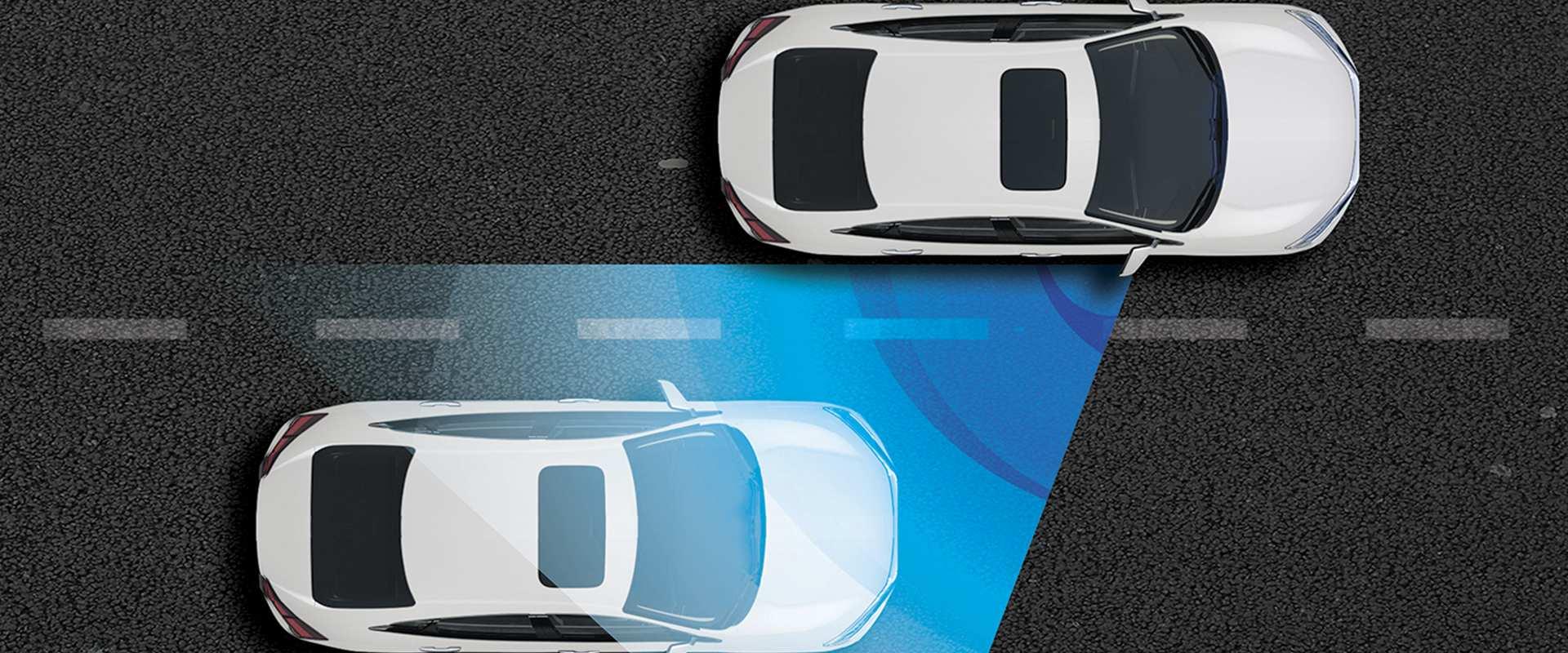 LaneWatch™ - Assistente para redução de pontos cegos - Segurança e facilidade: o LaneWatch™ é um assistente de visibilidade lateral para redução de pontos cegos. Exibe na tela do multimídia a faixa de rodagem do lado direito do veículo, aumentando ângulo de visão do motorista em até 4 vezes.