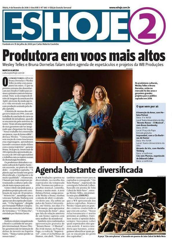 Capa do Jornal ES Hoje