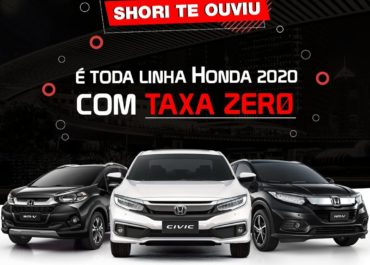 Toda linha Honda 2020 com TAXA ZERO!