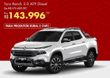 Toro Ranch 2.0 AT9 Diesel por R$ 144.826,00*