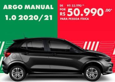 Argo Manual 1.0 2020/21 por R$ 50.990,00*