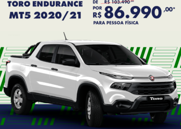 Oferta especial: Toro Endurance MT5 2020/21 por R$ 86.990,00*