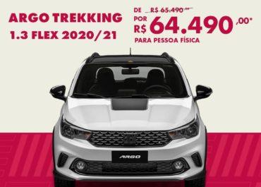 Argo Trekking 1.3 2020/21 por R$ 64.490,00*