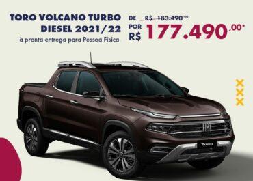 Toro Volcano Turbo Diesel 2021/22 por R$ 117.490,00*