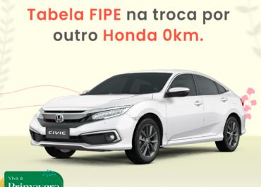 Seu Honda na Shori vale Tabela FIPE na troca por outro Honda 0km