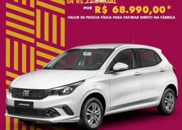 Argo Drive 1.0 2021/22 por R$ 68.990,00*
